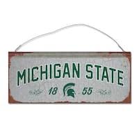 Michigan State University Small Tin Sign