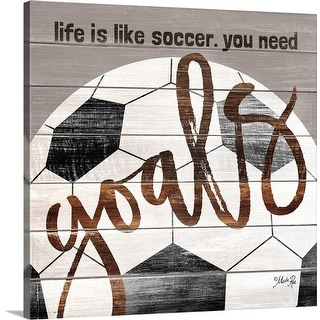 """Soccer Goals"" Canvas Wall Art"