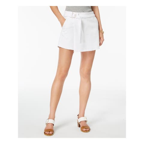TOMMY HILFIGER Womens White Wrap Above The Knee Skort Size: 16