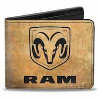Ram Logo + Guts Glory Pistons Weathered Black Bi Fold Wallet - One Size Fits most