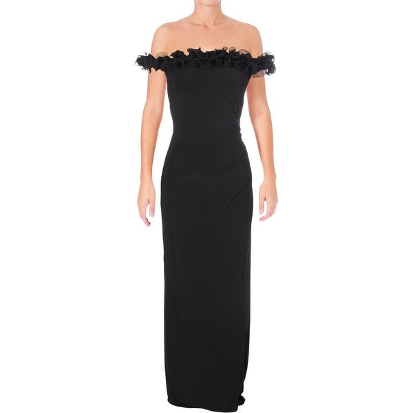 f5f5e3d3832 Lauren Ralph Lauren Womens Kobella Evening Dress Ruffled Sleeveless