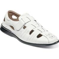 9076124ade05 Stacy Adams Men s Argosy Closed Toe Fisherman Sandal White Polyurethane
