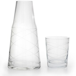American Atelier Medallion Swirl 2 Piece Set Night Carafe with Glass Tumbler