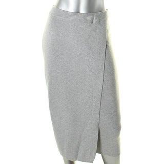 Guess Womens Pencil Skirt Fold-Over Ribbed Trim
