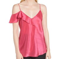 Lewit Ruffle Camisole Women's Medium Blouse Silk