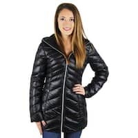 Jessica Simpson Womens Down Coat Packable Quilted - S