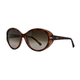 Valentino V 615 SR 215 Dark Havana Classic Oval Sunglasses