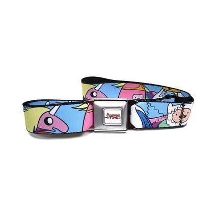 Adventure Time Seatbelt Buckle Belt Main Characters Jake Finn Marceline-Holds Pants Up