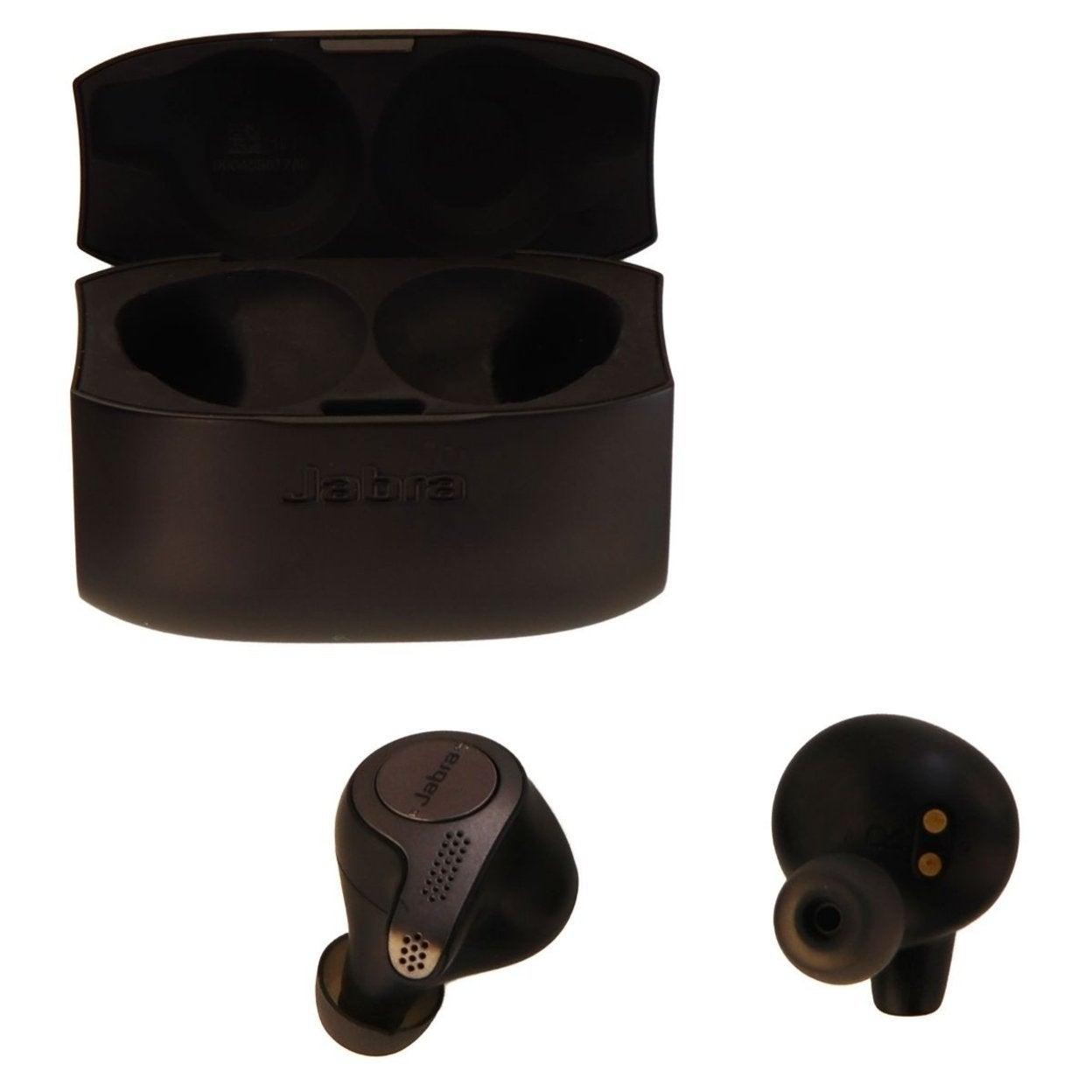 Shop Jabra Elite 65t Wireless Earbuds W Charging Case Titanium Black Refurbished Overstock 27482710