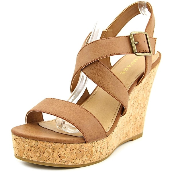 Rampage Happy Women Cognac/Coral Sandals