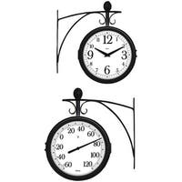 Springfield 91572 Station Thermometer & Clock