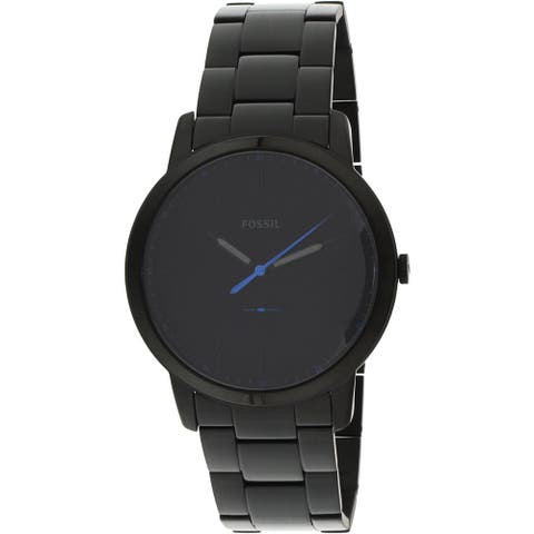 Fossil Men's The Minimalist Black Stainless-Steel Fashion Watch