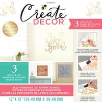 "Dcwv Create Decor Self-Adhesive Lettering & Stencil 12""X12""-God Is Good-Gold"