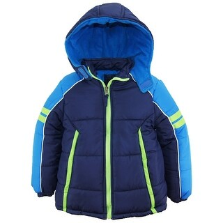iXtreme Toddler Boys Colorblock Active Hooded Winter Puffer Jacket Coat