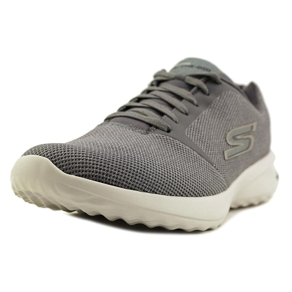 Skechers On-The-Go City 3.0 Men Round Toe Canvas Gray Sneakers