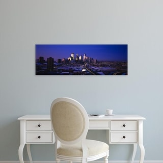 Easy Art Prints Panoramic Images's 'Skyscrapers at dusk, Minneapolis, Minnesota, USA' Premium Canvas Art