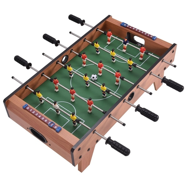 """27"""" Indoor Competition Game Foosball Table w/ Legs - Overall dimension: 27"""" x 15"""" x 9"""". Opens flyout."""