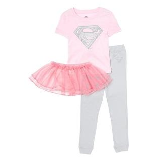 DC Comics Girls Supergirl Super Shiny Ballet Tutu Cotton Pajama Set