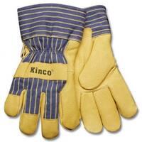 Kinco 1928-L Men's Grain Pigskin Leather Palm Glove, Large