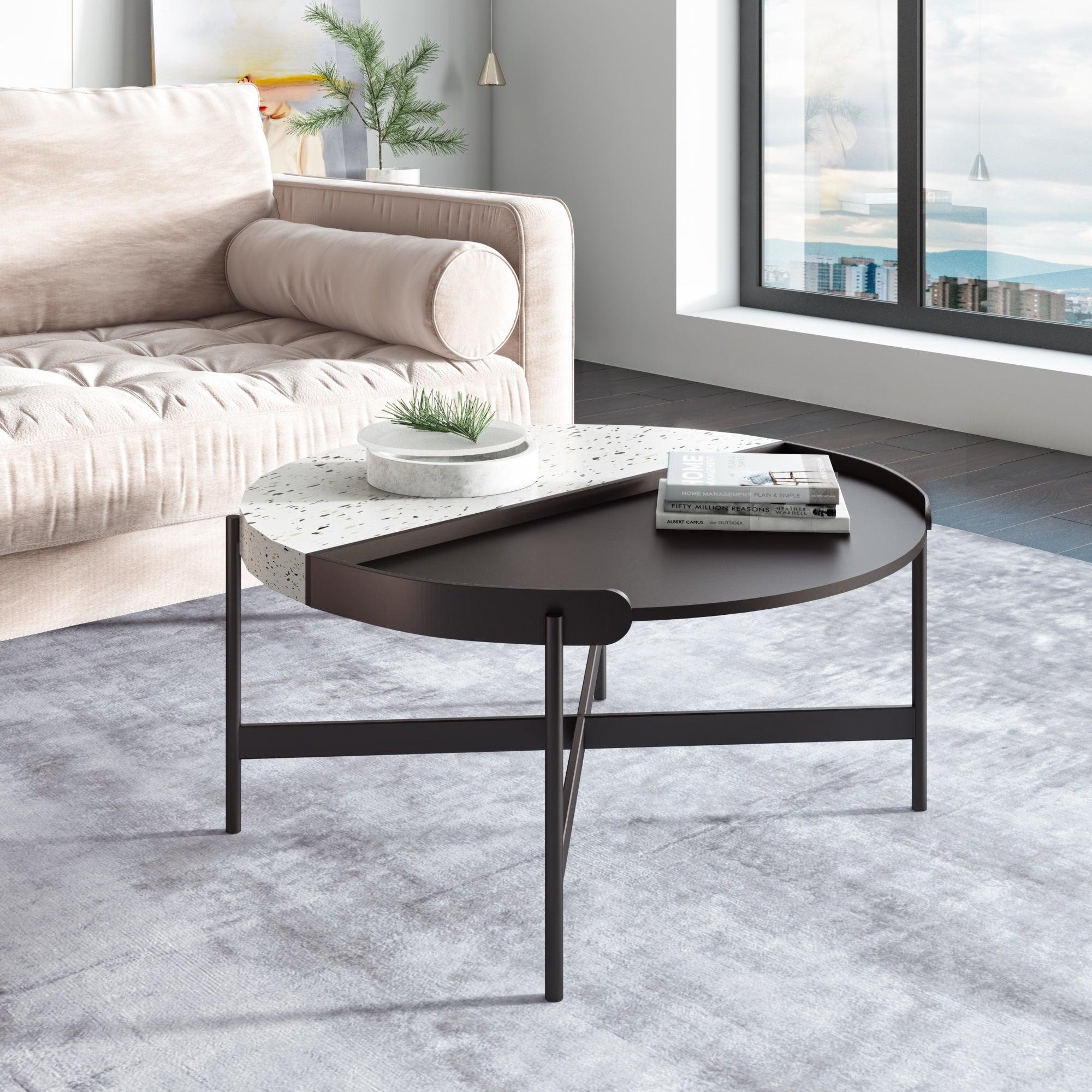 Modern White Terrazzo Concrete