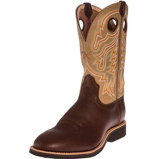 Twisted X Western Boots Mens Red Buckle Calf Roper Brown MCR0007