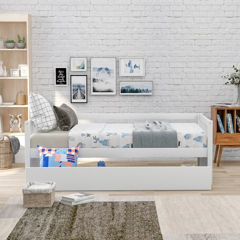 Modern Wooden Daybed with Storage