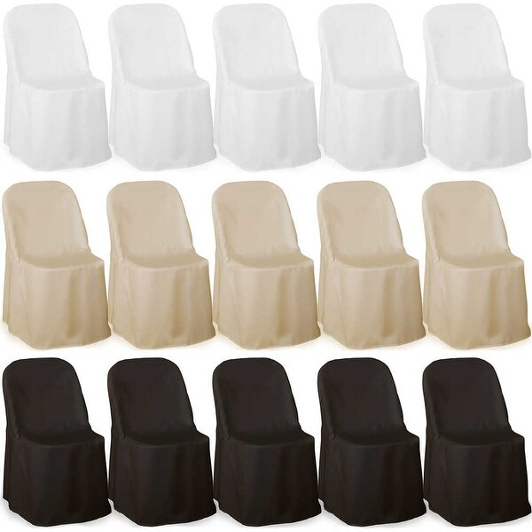 Lann S Linens 100 Elegant Wedding Party Folding Chair Covers Polyester Cloth Multiple Colors Free Shipping Today 20164783