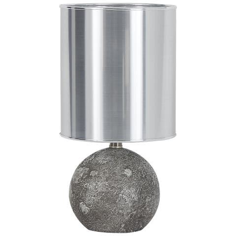"Kadian Contemporary Glam Gray Poly Table Lamp - 9""W x 9""D x 18""H"