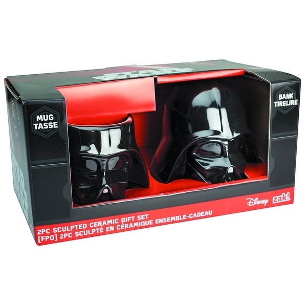 Star Wars Darth Vader Sculpted Ceramic Gift Set: Mug and Bank - Multi