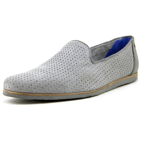 Ted Baker Oshua Men Round Toe Suede Gray Loafer