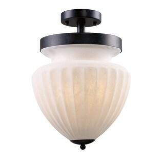 Landmark Lighting 65018-3 Three Light Down Lighting Semi Flush Ceiling Fixture from the Haden Collection