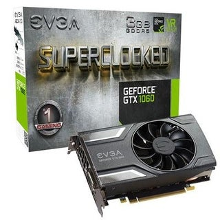 Evga Geforce Gtx 1060 3Gb Sc Gaming, Acx 2.0 (Single Fan), 3Gb Gddr5, Dx12 Osd Support (Pxoc), Only 6.8 Inches Graphics