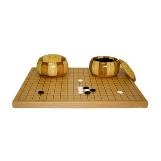 Go Set with Inlaid Bamboo Bowls Board Game