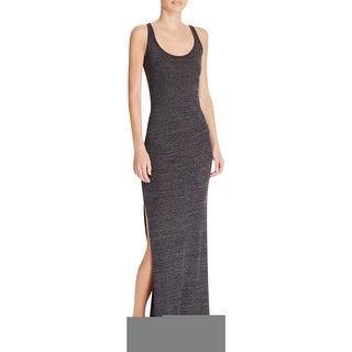 Alternative Apparel Womens Maxi Dress Heathered Ruched