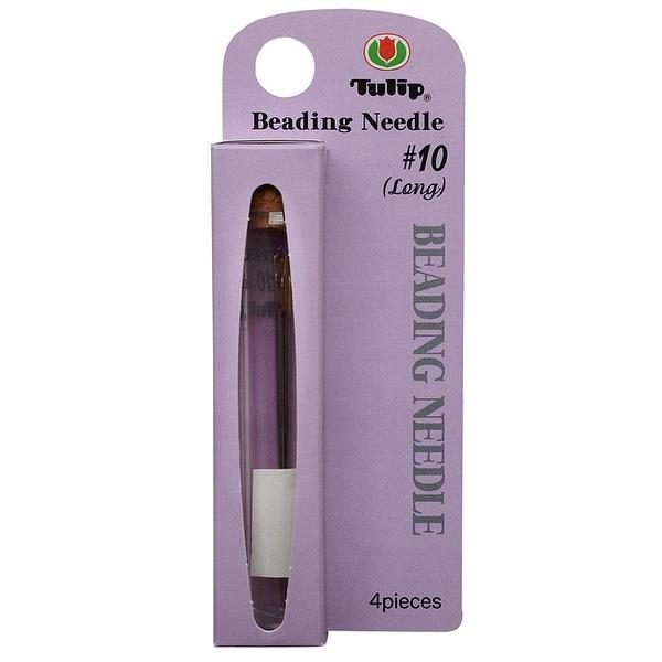 Tulip Beading Needles Size 10 (Long) 51x0.46mm - 4 Pack