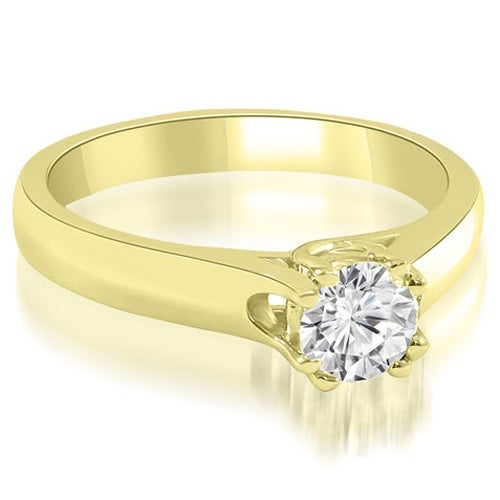 1.00 cttw. 14K Yellow Gold Lucida Round Cut Solitaire Diamond Engagement Ring