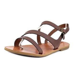 Lucky Brand Alexcia Women Open-Toe Synthetic Brown Slingback Heel