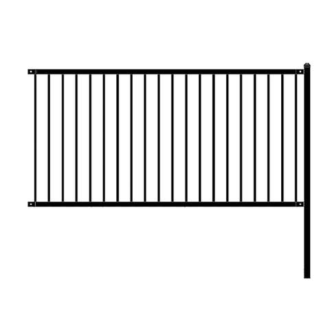 ALEKO Lyon Style Self Unassembled Steel Fence 8' x 4' Black