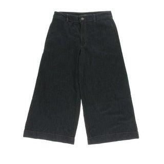 Ralph Lauren Womens Straight Crop Jeans Denim Classic