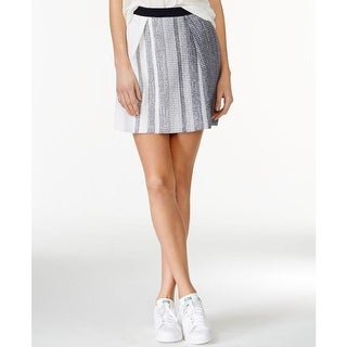 Rachel Rachel Roy Womens A-Line Skirt Textured Striped - M