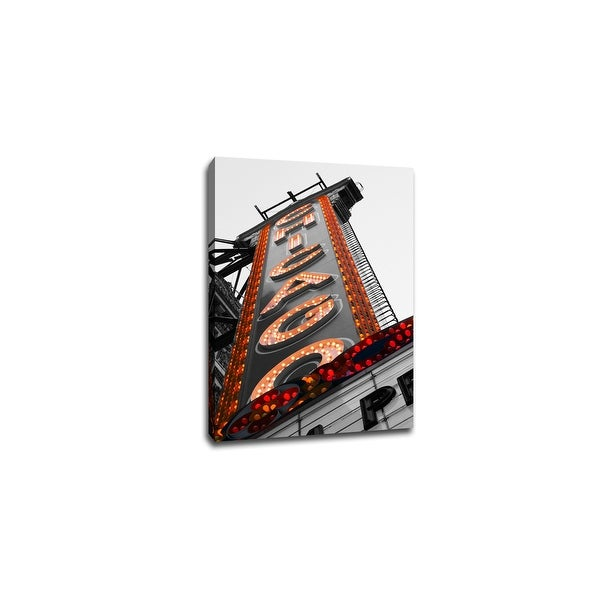 Chicago in Lights - Touch of Color - 24x16 Gallery Wrapped Canvas Wall Art ToC