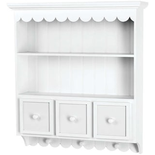"Fashion Furnishings Collectible Cupboard-21.5""X24""X5.25"" White"
