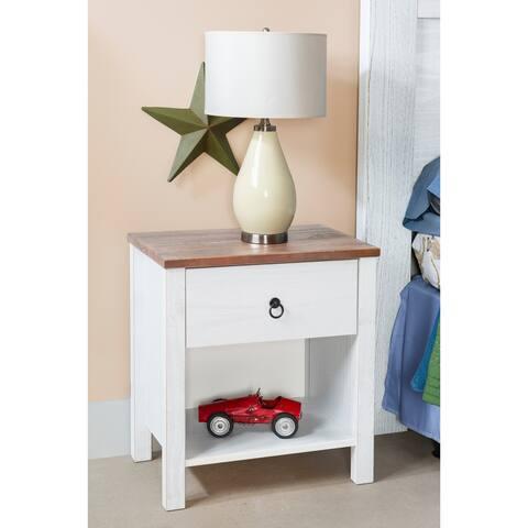 Merrin Rustic Oak Solid Wood Nightstand