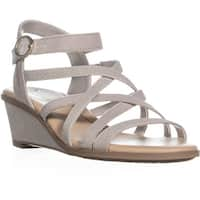 Dr. Scholl's Gemini Wedge Strappy Sandals, Grey
