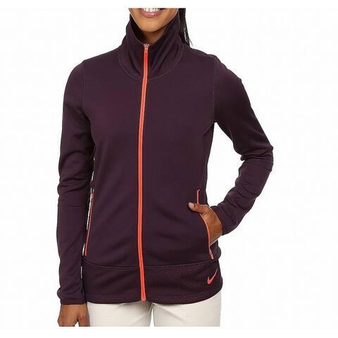Nike Purple Womens Size Large L Thermal Full-Zip Golf Jacket