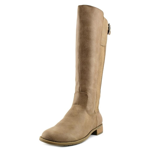 Unlisted Kenneth Cole Spare Star Wide Calf Women Round Toe Tan Knee High Boot