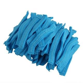 Unique Bargains Unique Bargains 110 Pcs Pleated Bouffant Dust-proof Disposable Mop Cap Blue for Workers
