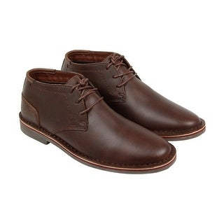 Kenneth Cole Desert Sun Mens Brown Leather Casual Dress Lace Up Oxfords Shoes