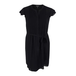 Nine West Women's Pleated Front Cap Sleeve Fit & Flare Dress - 16