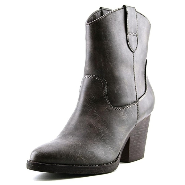 Madden Girl Womens RAMZ Almond Toe Ankle Cowboy Boots